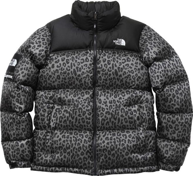 chaqueta north face leopard