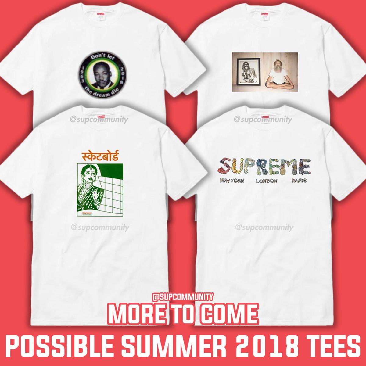 ed215f099 Rumored Supreme Summer 2018 Tees - News - Supremecommunity