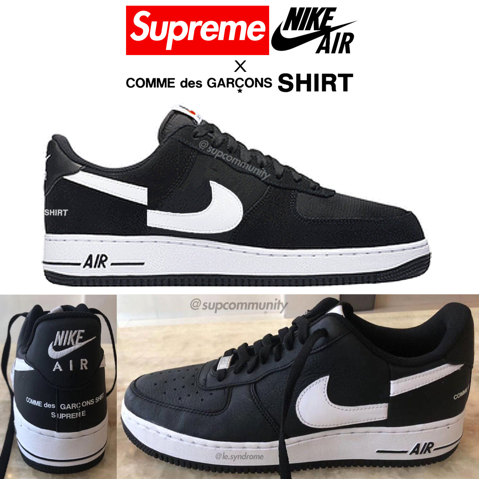 the latest 1804b 5c5a6 Supreme/CDG/Nike Air Force 1 Rumor - News - Supremecommunity