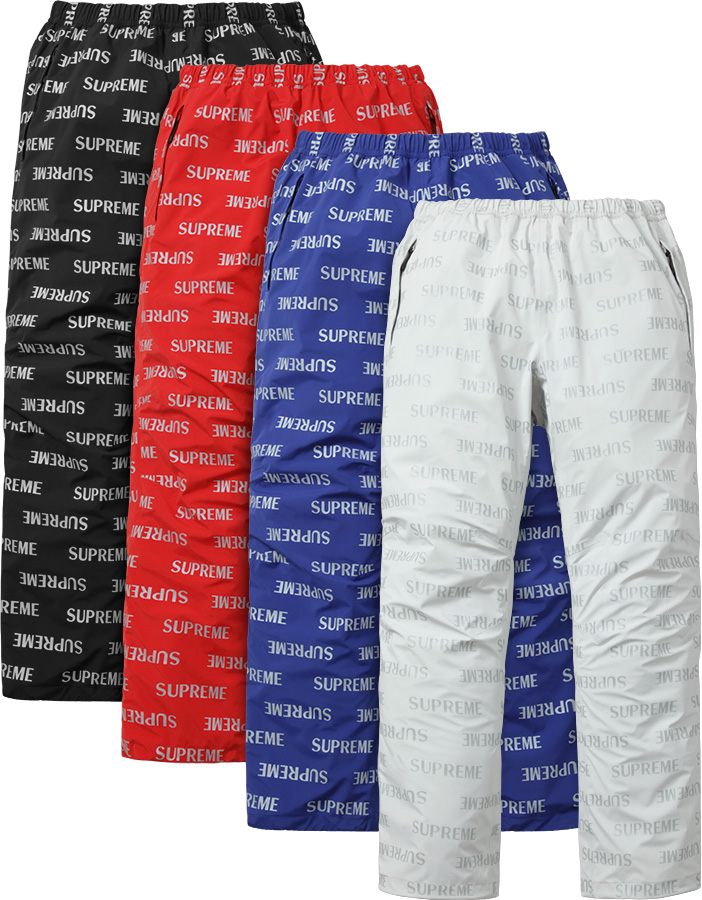 Details Supreme 3M® Reflective Repeat Taped Seam Pant - Supreme