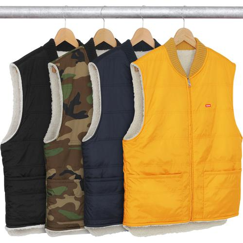 c3ae99319f6 Sherpa Fleece Reversible Work Vest - Quilted nylon with full zip closure  and rib collar.