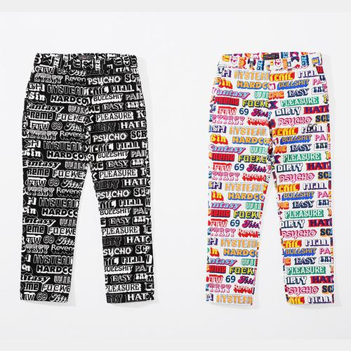 Supreme/HYSTERIC GLAMOUR Text Work Pant