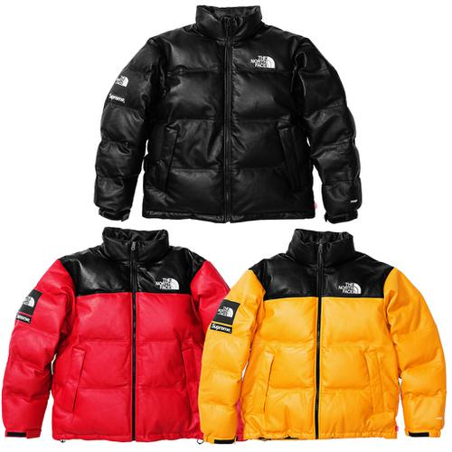 793f5f2e7acf ... usa supreme the north face leather nuptse jacket tnf collab fw17 70b57  e2fe3 ...