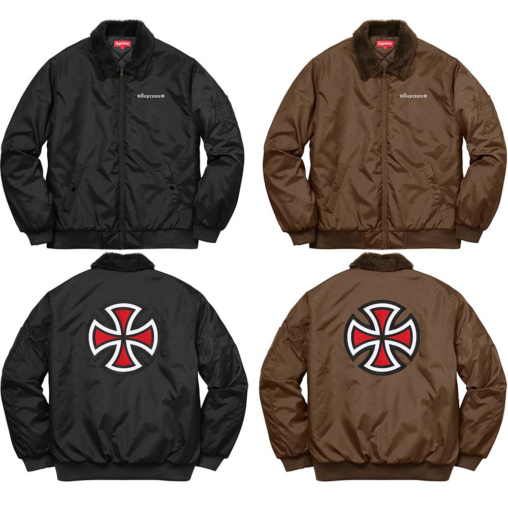Details Supreme Supreme®/Independent® Fur Collar Bomber