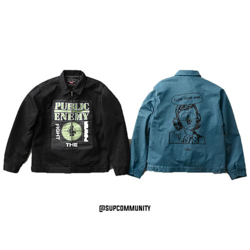 b126c0dbe16 Supreme® UNDERCOVER Public Enemy Work Jacket - Work Jacket with woven patch.