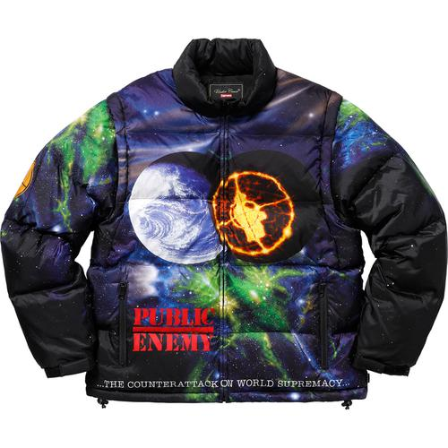2e017c0e7b3 Supreme® UNDERCOVER Public Enemy Puffy Jacket - Puffy Jacket with removable  sleeves.