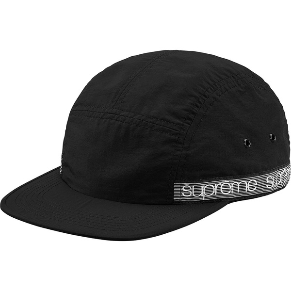 Tonal Taping Camp Cap - Nylon taslan Supreme camp cap with velcro closure and woven logo taping at back and sides.