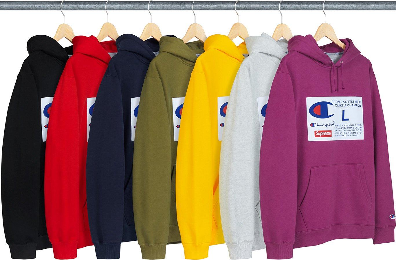 Supreme Champion Label Hooded Sweatshirt