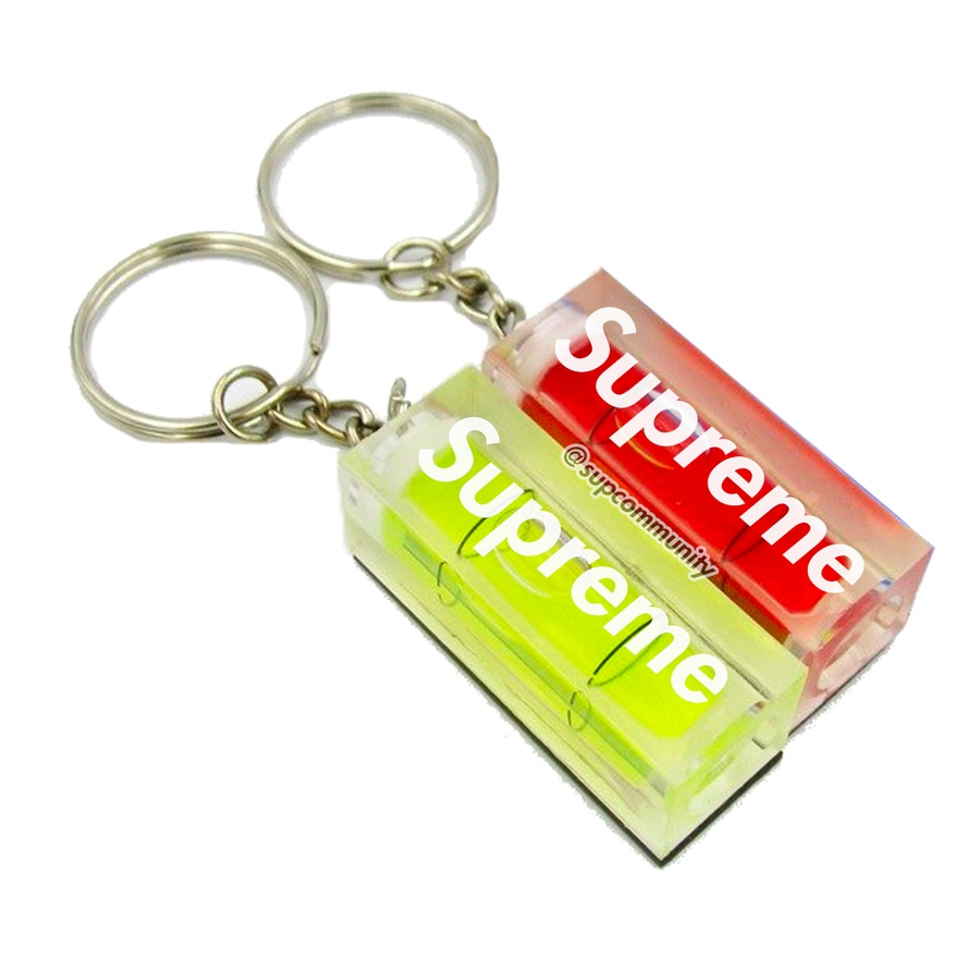 "Level Keychain - Acrylic keychain with printed logo on side and 1"" keyring."