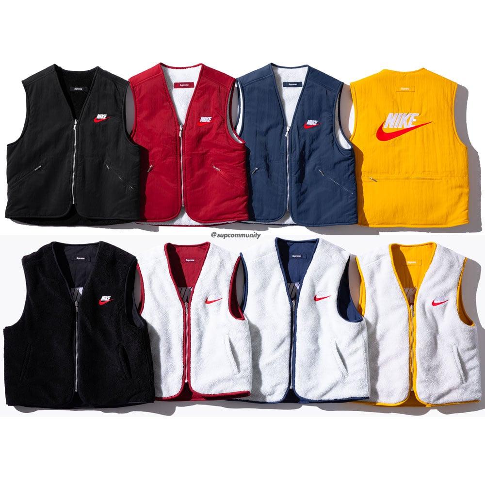 supreme nike reversible nylon sherpa vest