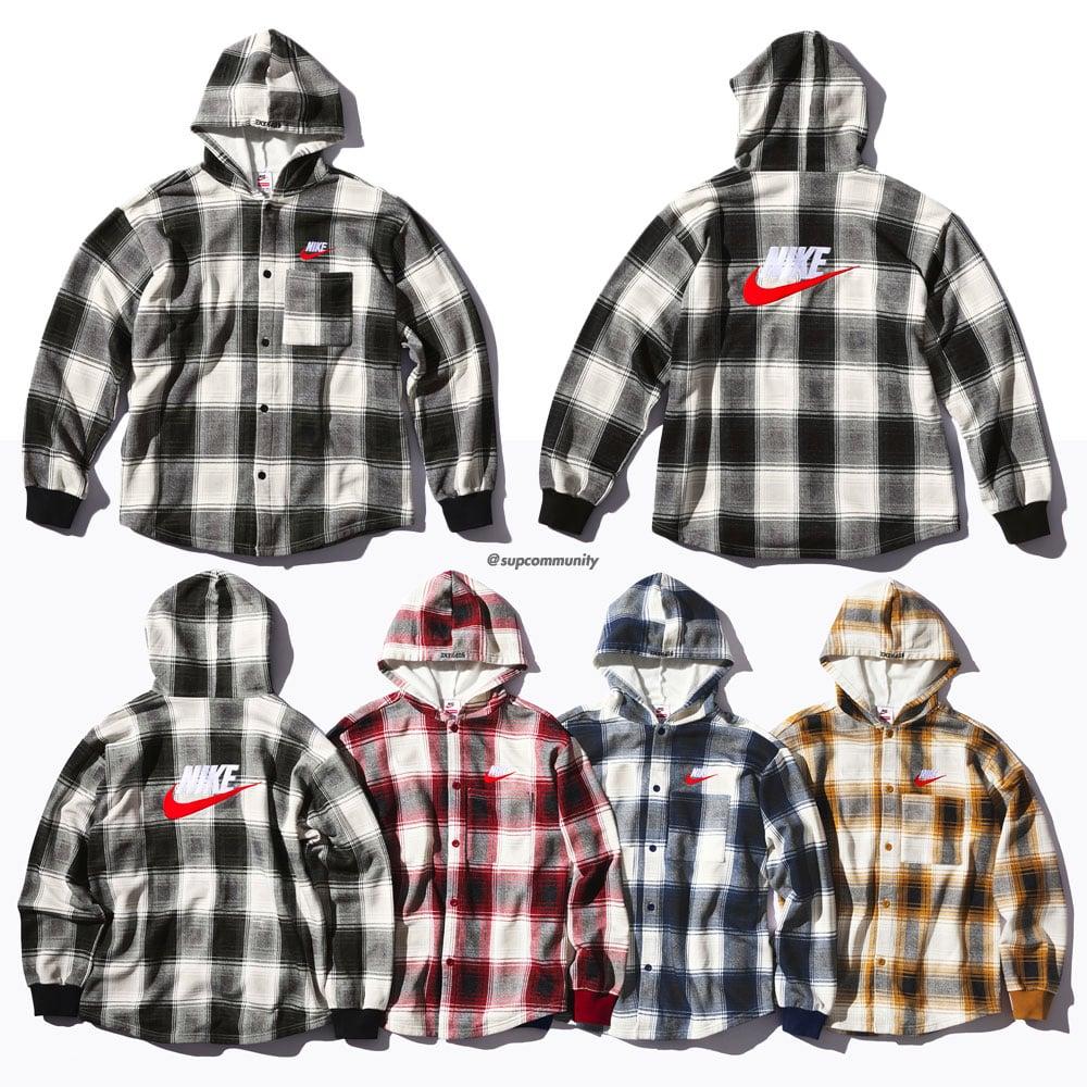 2019 original sale online no sale tax Details Supreme Supreme®/Nike® Plaid Hooded Sweatshirt ...