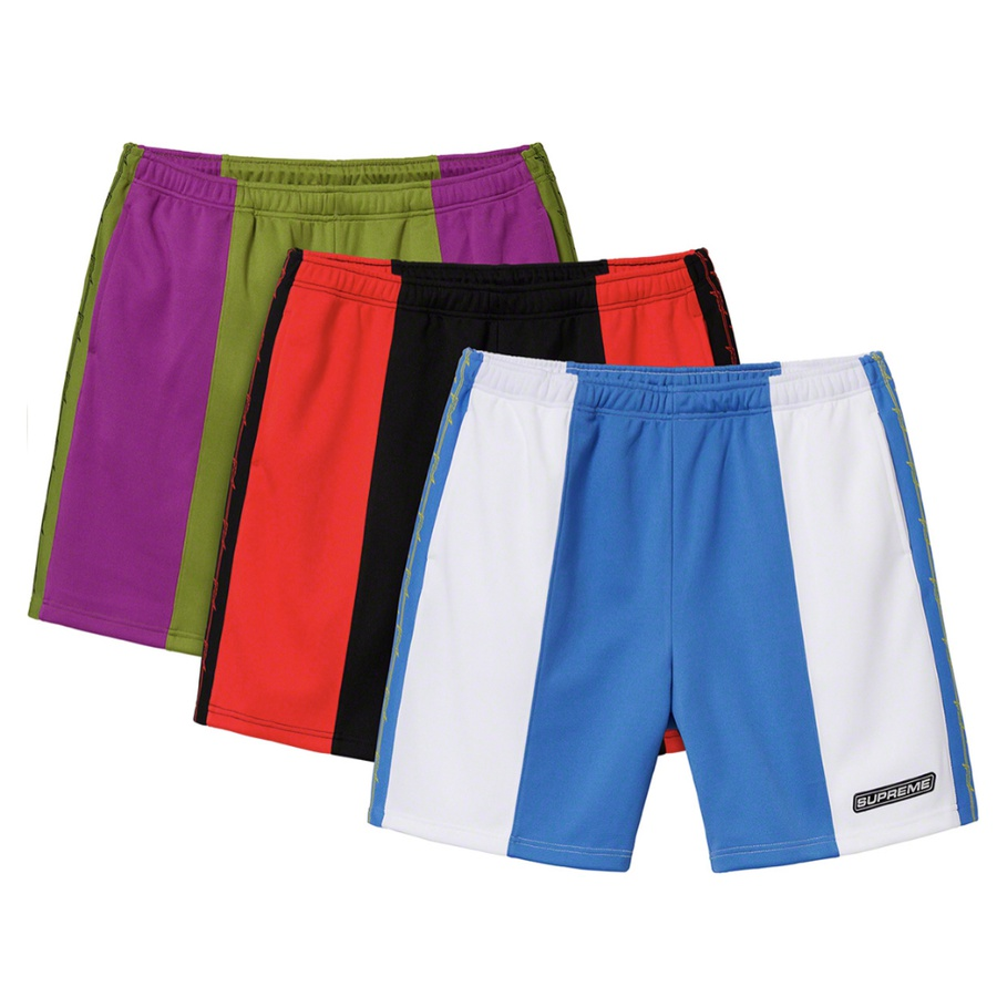 Barbed Wire Athletic Short - Poly pique with mesh lining. On seam hand pockets with single back patch pocket. Elastic waistband with interior drawcord. Rib side panel with jacquard graphic and 3M® Reflective rubber logo patch on left leg.