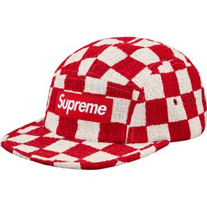 c62d6eeb Details Supreme Checkerboard Bouclé Camp Cap - Supreme Community