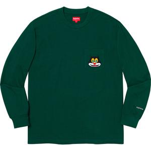 Cat L/S Pocket Tee Dark Green