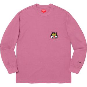Cat L/S Pocket Tee Mauve