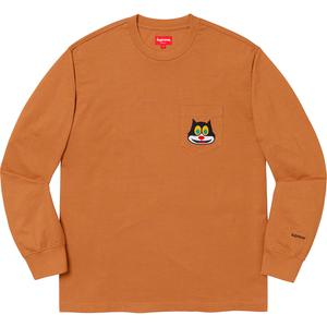 Cat L/S Pocket Tee Rust