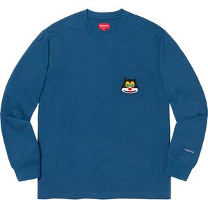 Cat L/S Pocket Tee Navy