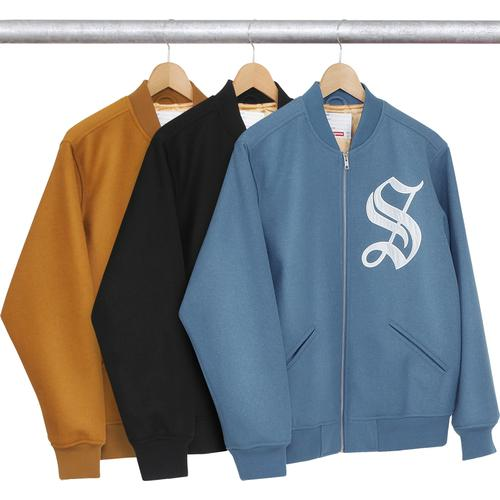 474ff20d5af5e Old English Zip Varsity Jacket - 24 oz. melton wool with satin lining and  full