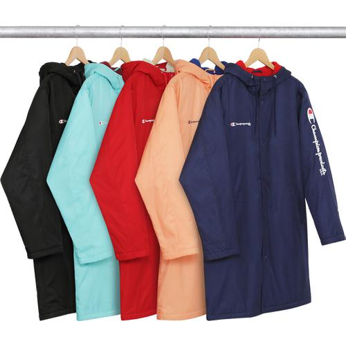 1b66c6580f0 Supreme® Champion® Stadium Parka - Water resistant poly with pile lining.  Snap