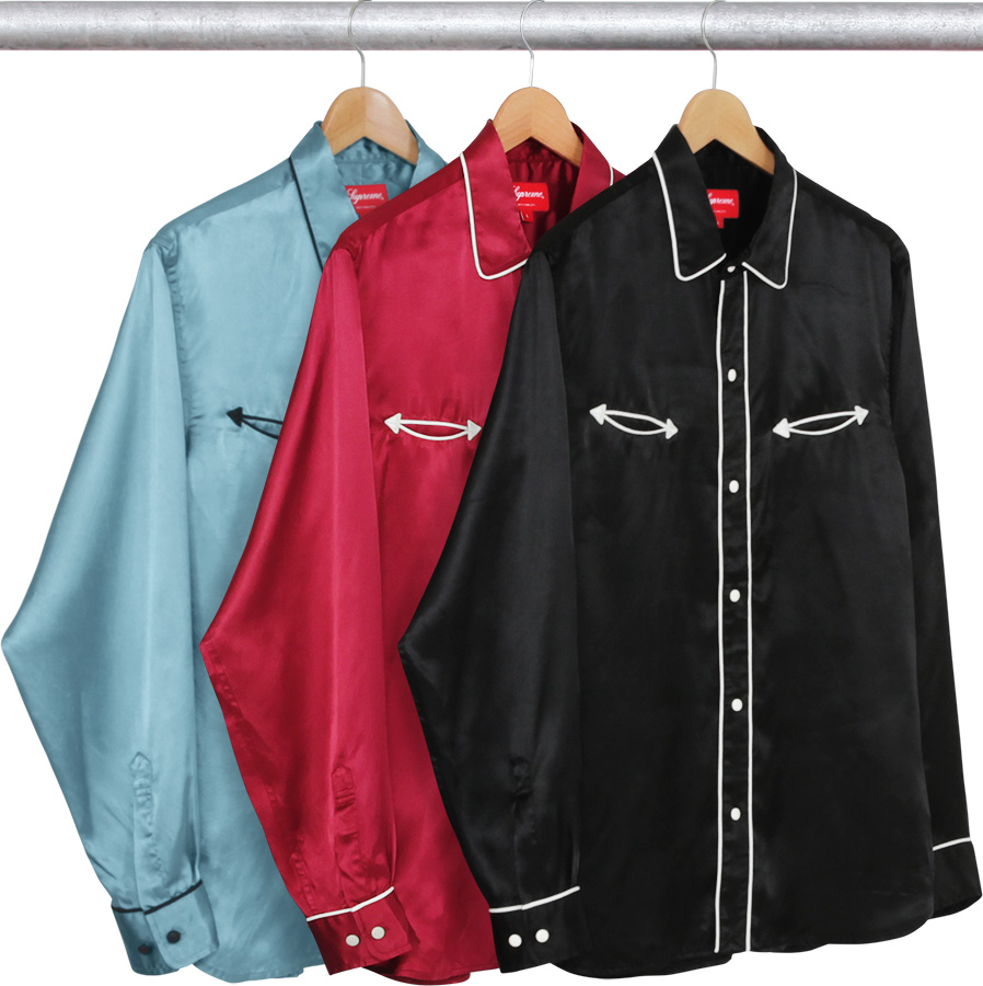 0b4af826 Details Supreme Satin Western Shirt - Supreme Community