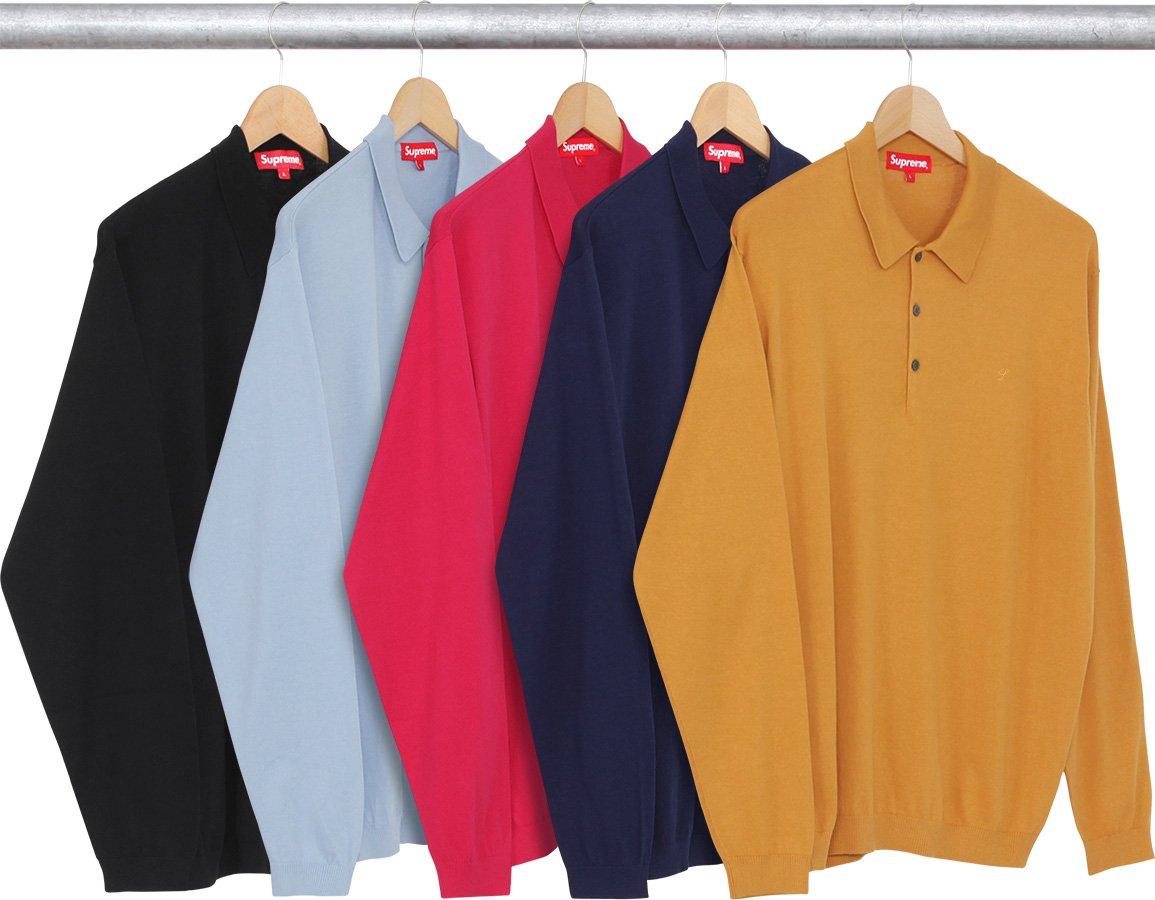 8ce444ac6 Details Supreme Knit L S Polo - Supreme Community