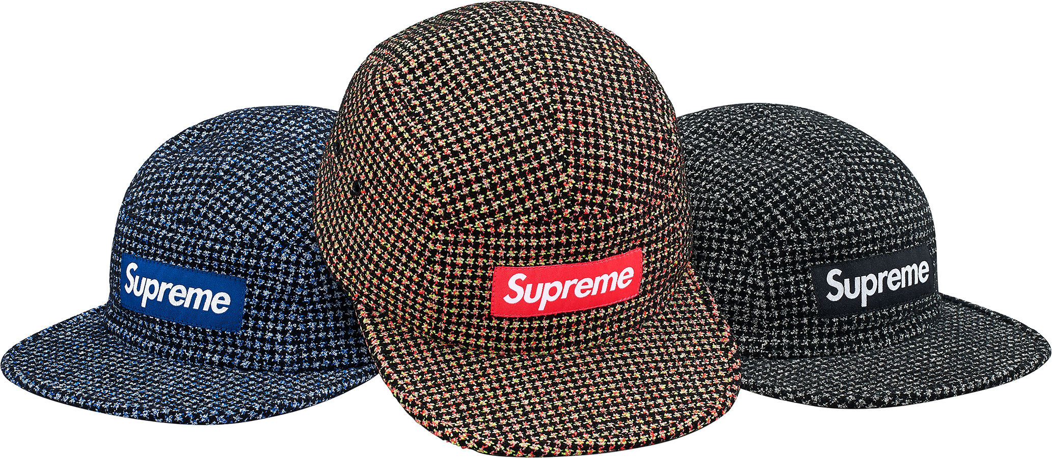 441bb0df Details Supreme Bouclé Houndstooth Camp Cap - Supreme Community