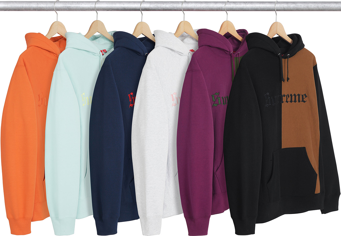 570a226ff Details Supreme Split Old English Hooded Sweatshirt - Supreme Community