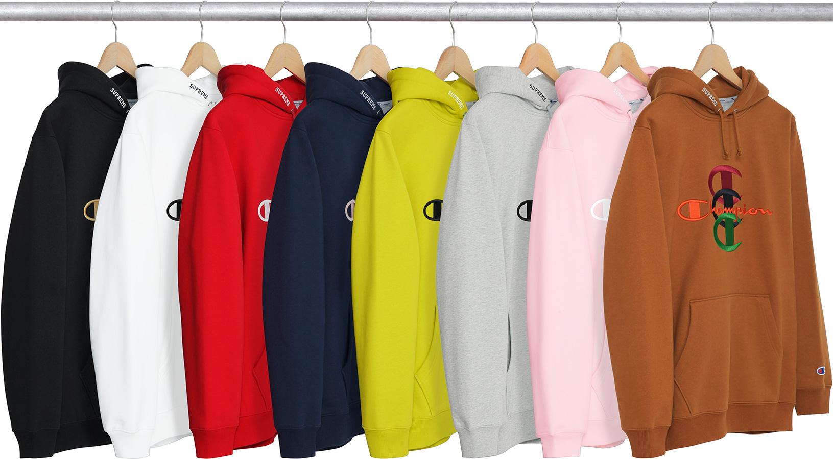 grote verscheidenheid aan stijlen fantastische besparingen nieuwkomers Details Supreme Supreme®/Champion® Stacked C Hooded ...