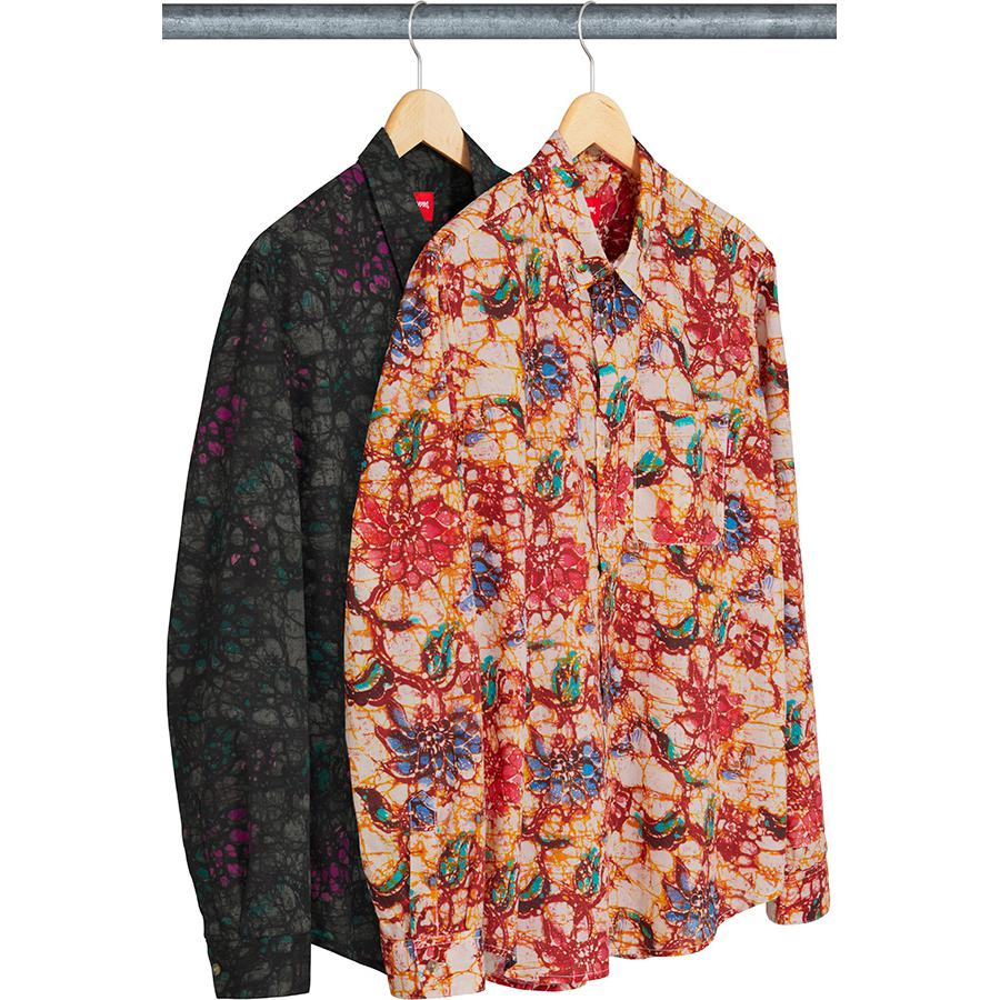 Acid Floral Shirt - All cotton shirt with printed pattern and single chest pocket.