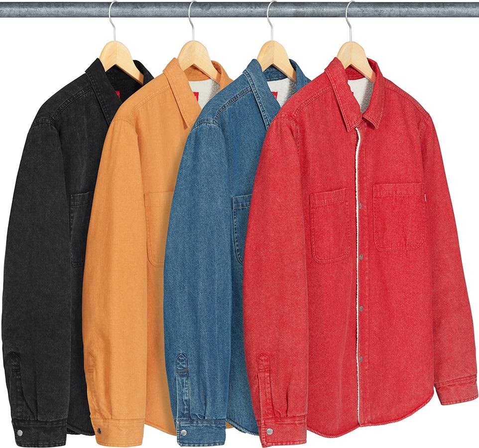 0d1f5c81c7fb Details Supreme Sherpa Lined Denim Shirt - Supreme Community