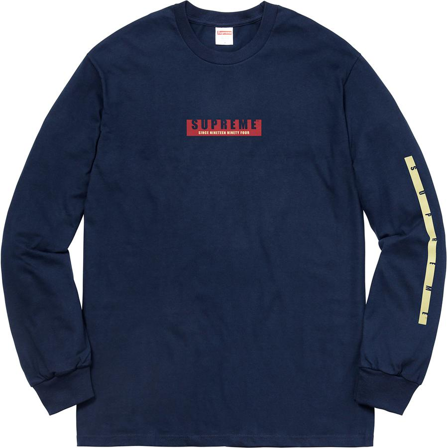 1994 L/S Tee - All cotton classic Supreme long sleeve t-shirt with printed graphic on front and sleeves.