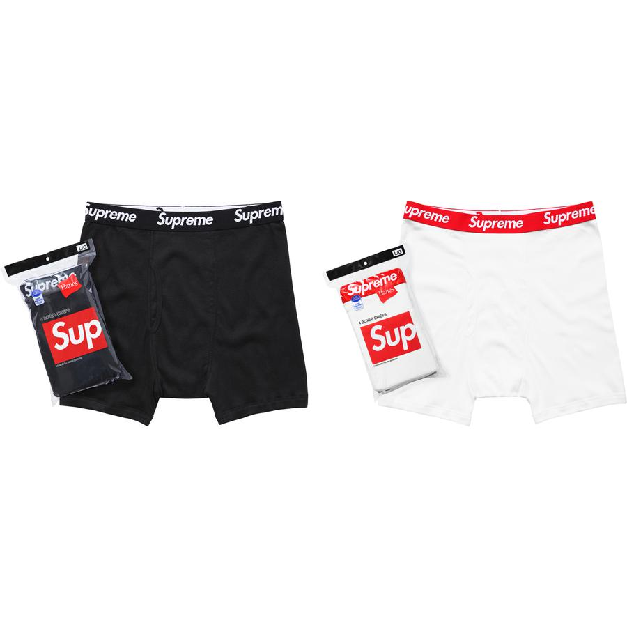 Supreme Hanes Boxer Briefs Pack of 4 White Sz M
