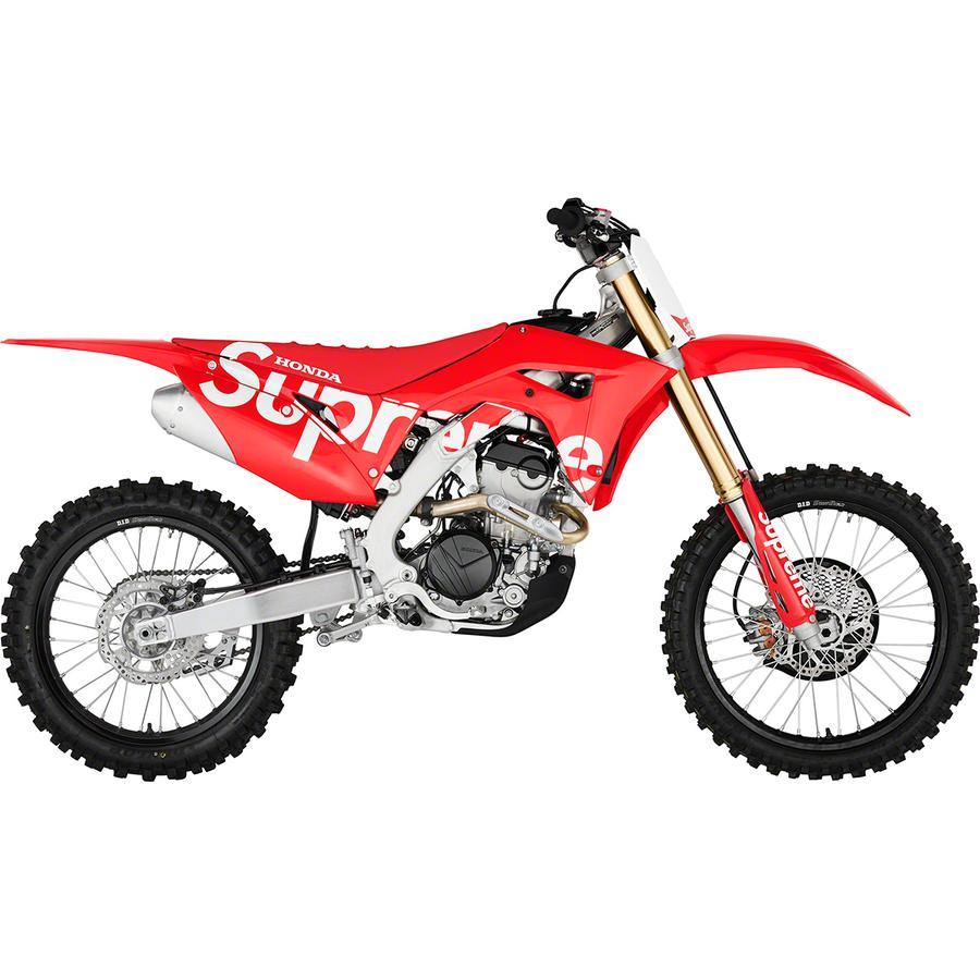 Supreme®/Honda® CRF 250R - Made exclusively for Supreme. The Supreme®/Honda® CRF 250R will not be available online. US only.