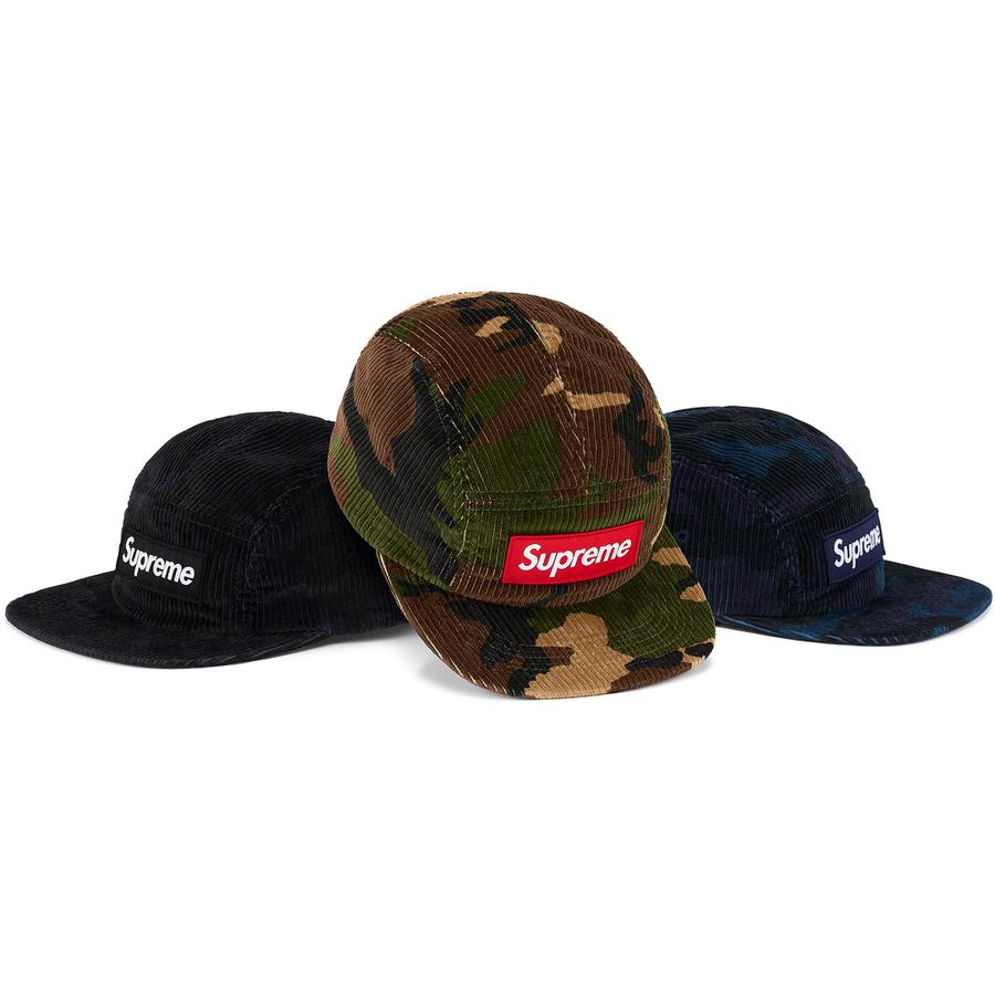 Camo Corduroy Camp Cap - All cotton corduroy Supreme camp cap.