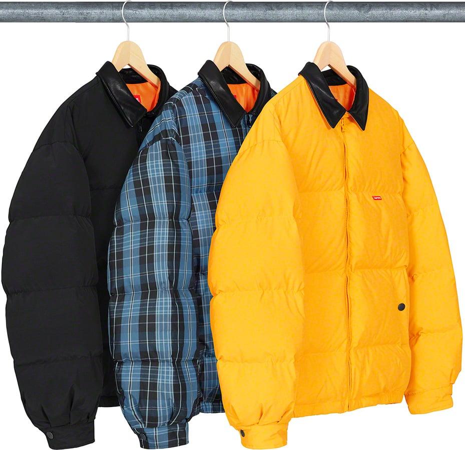 Details Supreme Leather Collar Puffy Jacket - Supreme Community