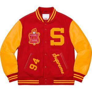 Details Supreme Team Varsity Jacket - Supreme Community