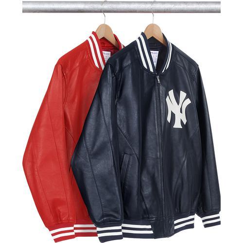 d4306ff0 New York Yankees™/Supreme/'47 Brand® Leather Varsity Jacket - Lambskin