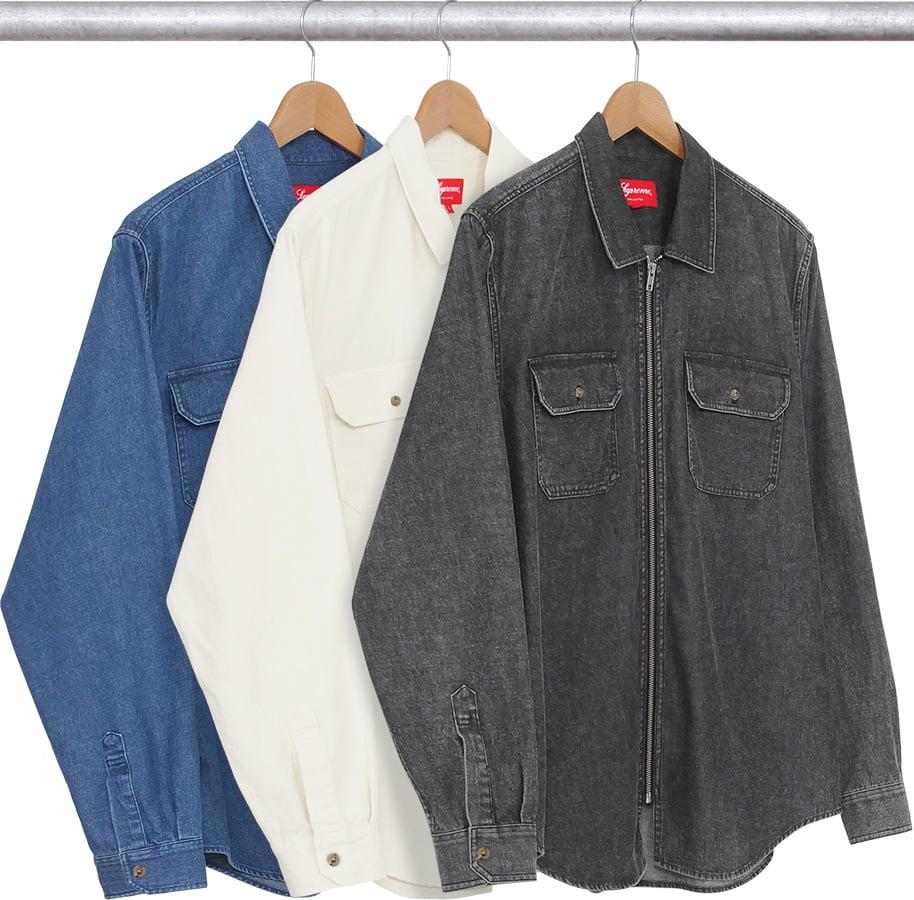 e25301ff4188 Details Supreme Denim Zip Shirt - Supreme Community