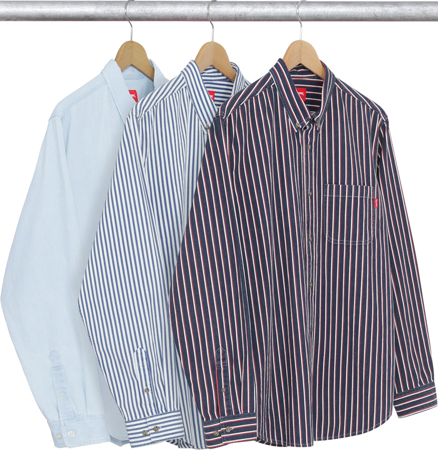 406fecd755bb Details Supreme Striped Denim Shirt - Supreme Community