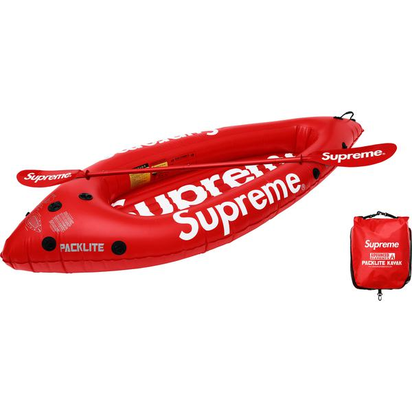 "Advanced Elements® Packlite™ Kayak - Packable, inflatable one-person kayak with printed logos on sides and base. Includes pump and oar with printed logo on each blade. 7'10"" length with 250 lbs. maximum weight."