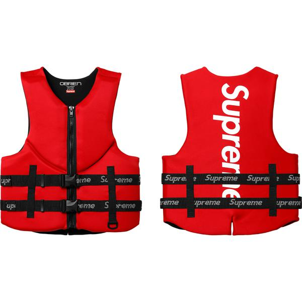 Supreme®/O'Brien® Life Vest - BioLife outer construction with full zip closure, two logo printed webbing belts and printed logo on back. U.S. Coast Guard Approved Type III.