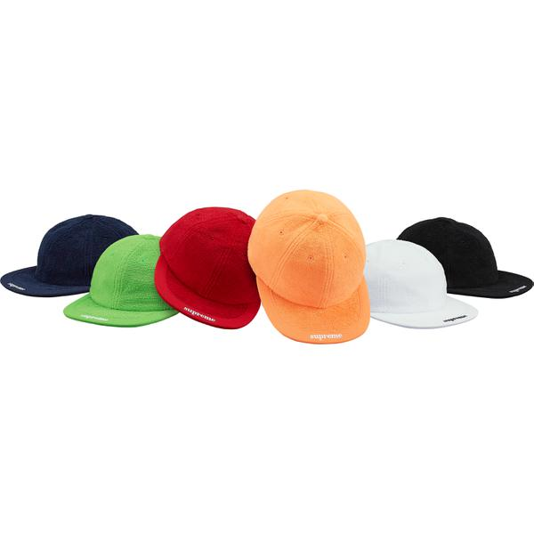 Terry Visor Logo 6-Panel - All cotton terry 6-Panel hat with embroidered logos on visor and back.