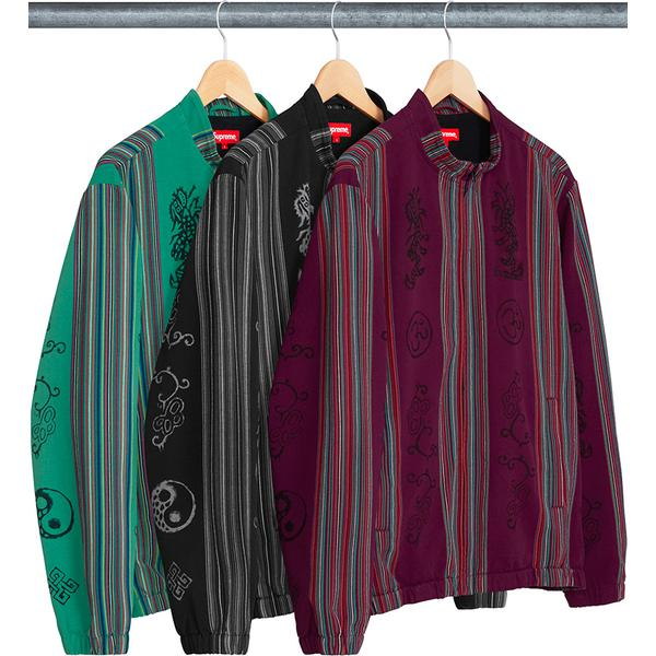 300fdce6a596 Woven Striped Batik Jacket - Woven striped cotton with printed graphics and  full zip closure.