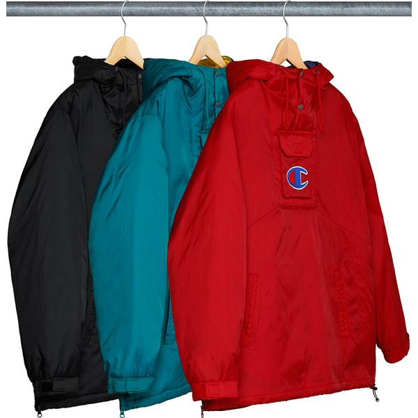 988e797c54a Supreme® Champion® Pullover Parka - Nylon with quilted taffeta lining. Half  snap