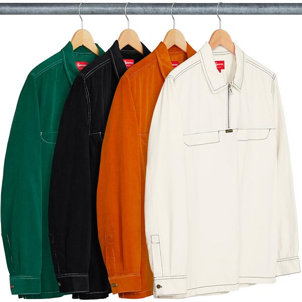 Corduroy Half Zip Shirt - All cotton corduroy