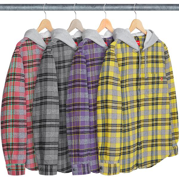 Hooded Plaid Flannel Shirt - All cotton flannel