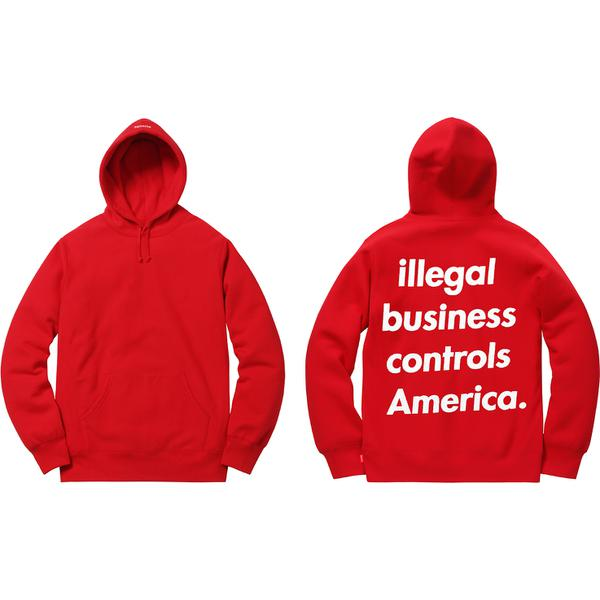 Illegal Business Hooded Sweatshirt - Cotton fleece