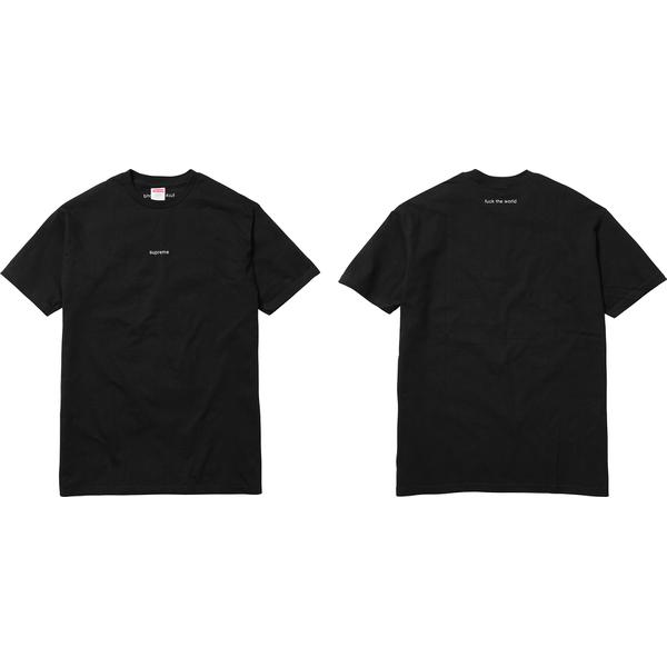 FTW Tee - All cotton classic Supreme t-shirt with embroidery on front and back neck.
