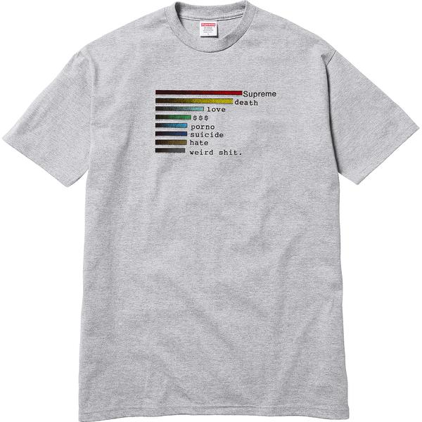 Chart Tee - All cotton classic Supreme t-shirt.
