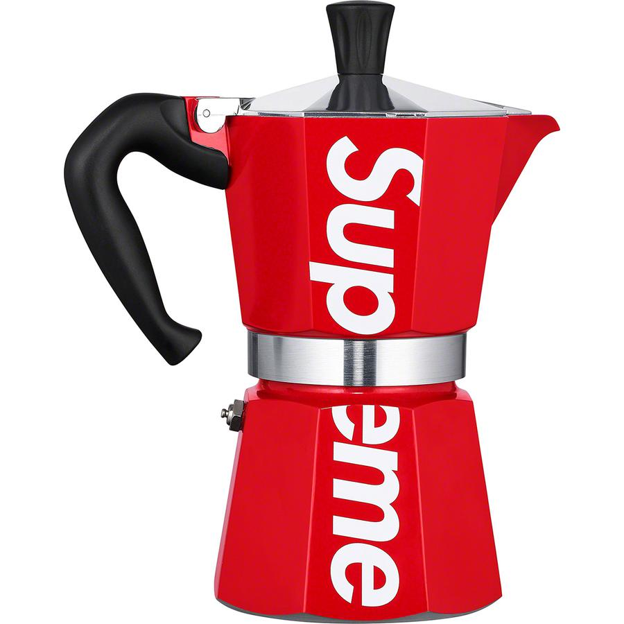 Supreme®/Bialetti Moka Express - Aluminum alloy with printed logo on side. 6 cup capacity. Made exclusively for Supreme.